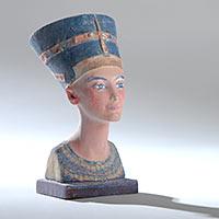 3D Papiermodell Nofretete