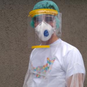 protektive corona faceshields drucken mit dem Prusa Mk3